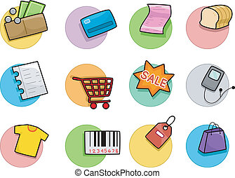 Shopping Icons Design Elements