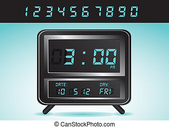 illustration of digital clock