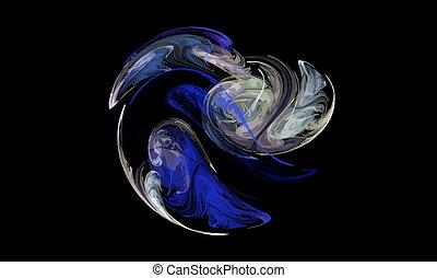 Illustration of digital fractal - Vector Illustration of...