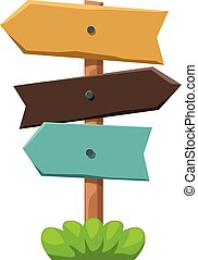 directional sign colored