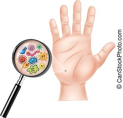 Vector illustration of Dirty hand on white background