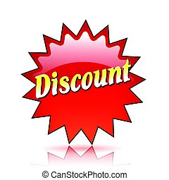 discount red star icon