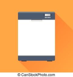 dishwasher icon concept