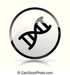 dna icon on white background
