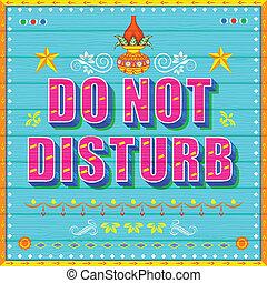 Do No Disturb Poster - illustration of Do No Disturb Poster...