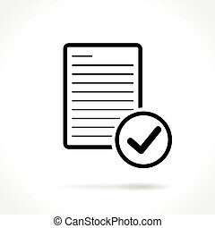 document thin line icon