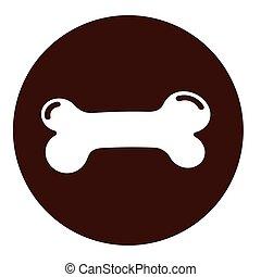 dog bone icon on white background