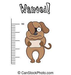 Illustration of dog prisoners were captured
