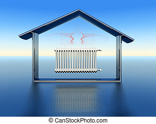 domestic heating - illustration of domestic heating