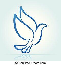 dove design on white background