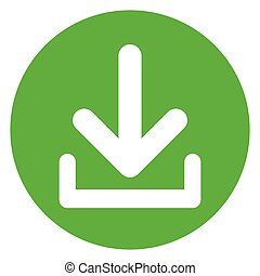 download circle green icon