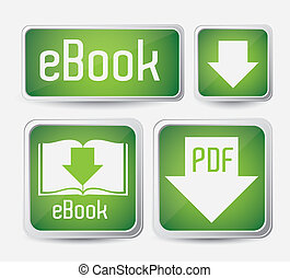 Download ebook - Illustration of Download ebook, with book...