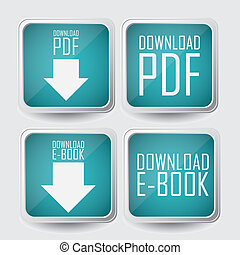 Download ebook - Illustration of Download ebook, with book ...