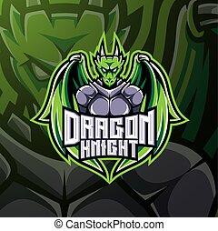 Dragon knight esport mascot logo design