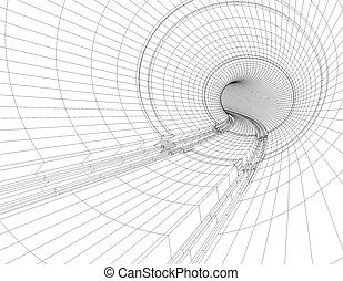 tunnel blueprint - Illustration of drawings of a tunnel...