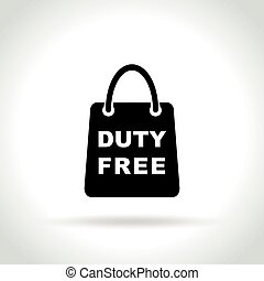 duty free bag icon on white background