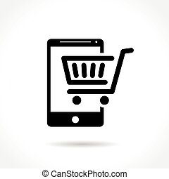 e-commerce icon on white background