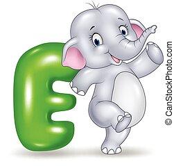 Illustration of E letter