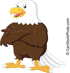 Eagle cartoon posing