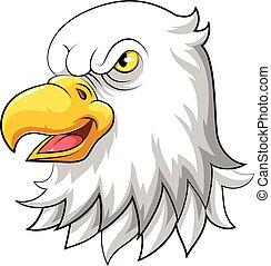 illustration of Eagle head mascot