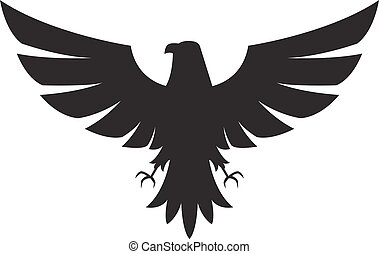Illustration of eagle Icon isolated on a white background