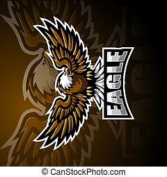 Eagle sport mascot logo design