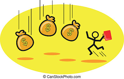 earning - illustration of earning money