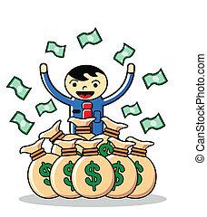 illustration of earning money