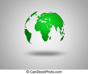 illustration of Earth isolated on light background