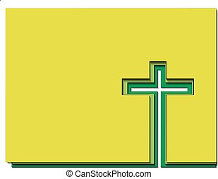 Illustration of easter cross with shadows