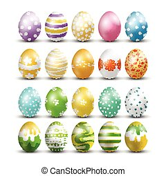Easter eggs isolated background