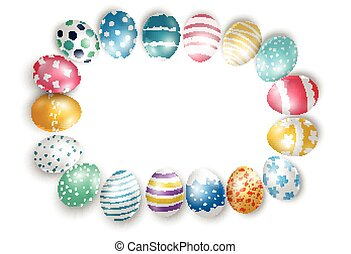 Easter eggs on isolated background