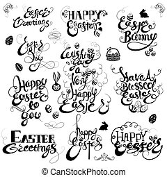 Easter Greetings in calligraphic style