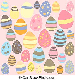 Easter pink seamless texture with eggs