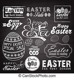 Easter Typographical background