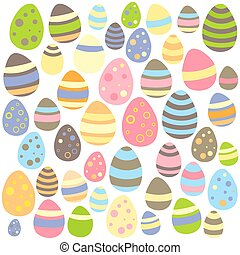 Easter white seamless texture with eggs