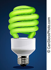 eco-friendly cfl - illustration of eco-friendly cfl