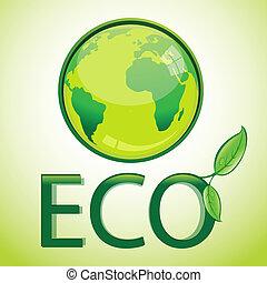 illustration of eco globe