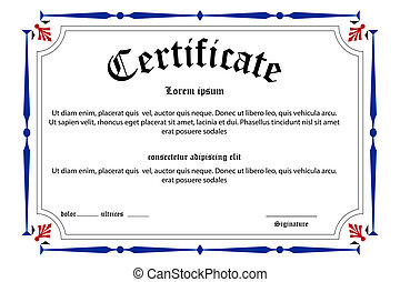 education certificate - illustration of education ...