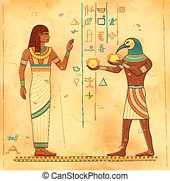 Egyptian art of human - illustration of Egyptian art of...