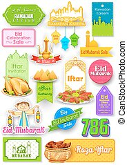 Eid Mubarak (Happy Eid) sale and promotion offer banner -...