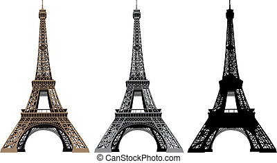 Eiffel Tower - Illustration of Eiffel Tower in Paris, France