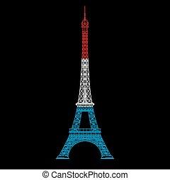 illustration of Eiffel tower line