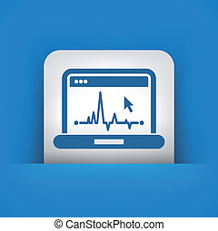 EKG on computer screen