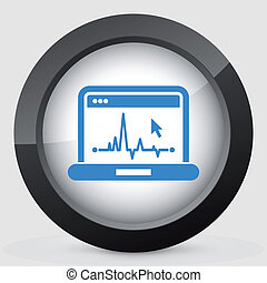 EKG on computer screen