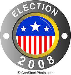 Election 2008 - Illustration of Election 2008 logo American...