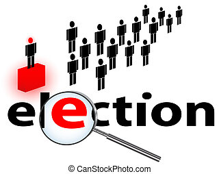 illustration of election theme against white background