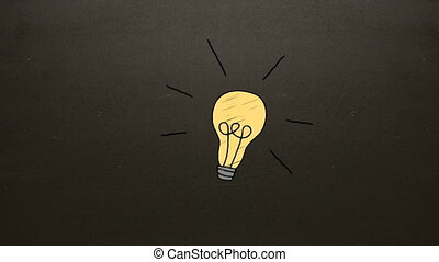 Illustration of electric bulb against brown background