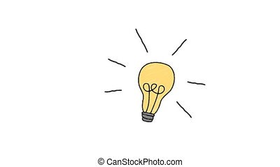 Illustration of electric bulb against white background