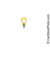 electric bulb with music texts
